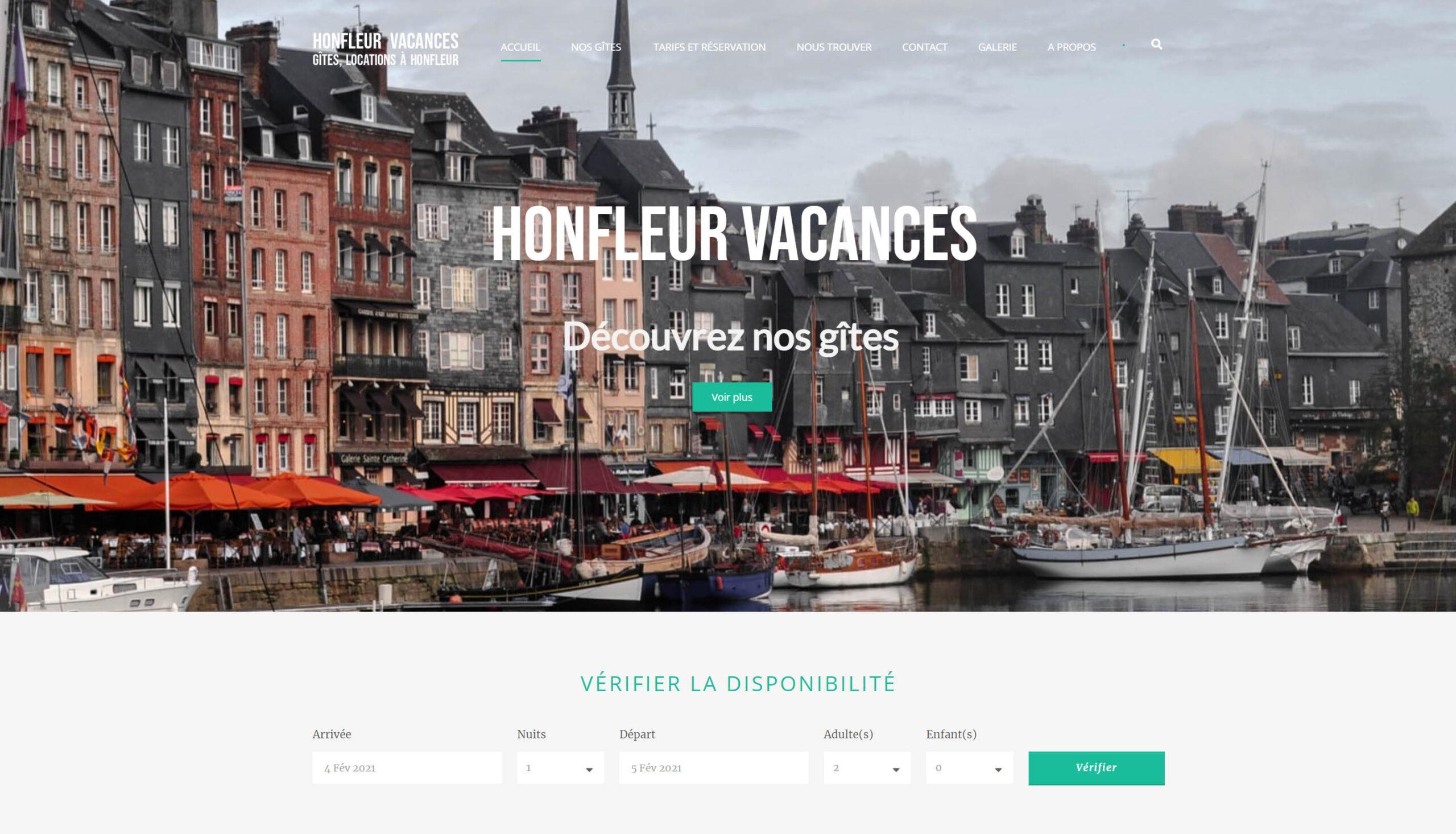 Site internet de location de gîtes à Honfleur