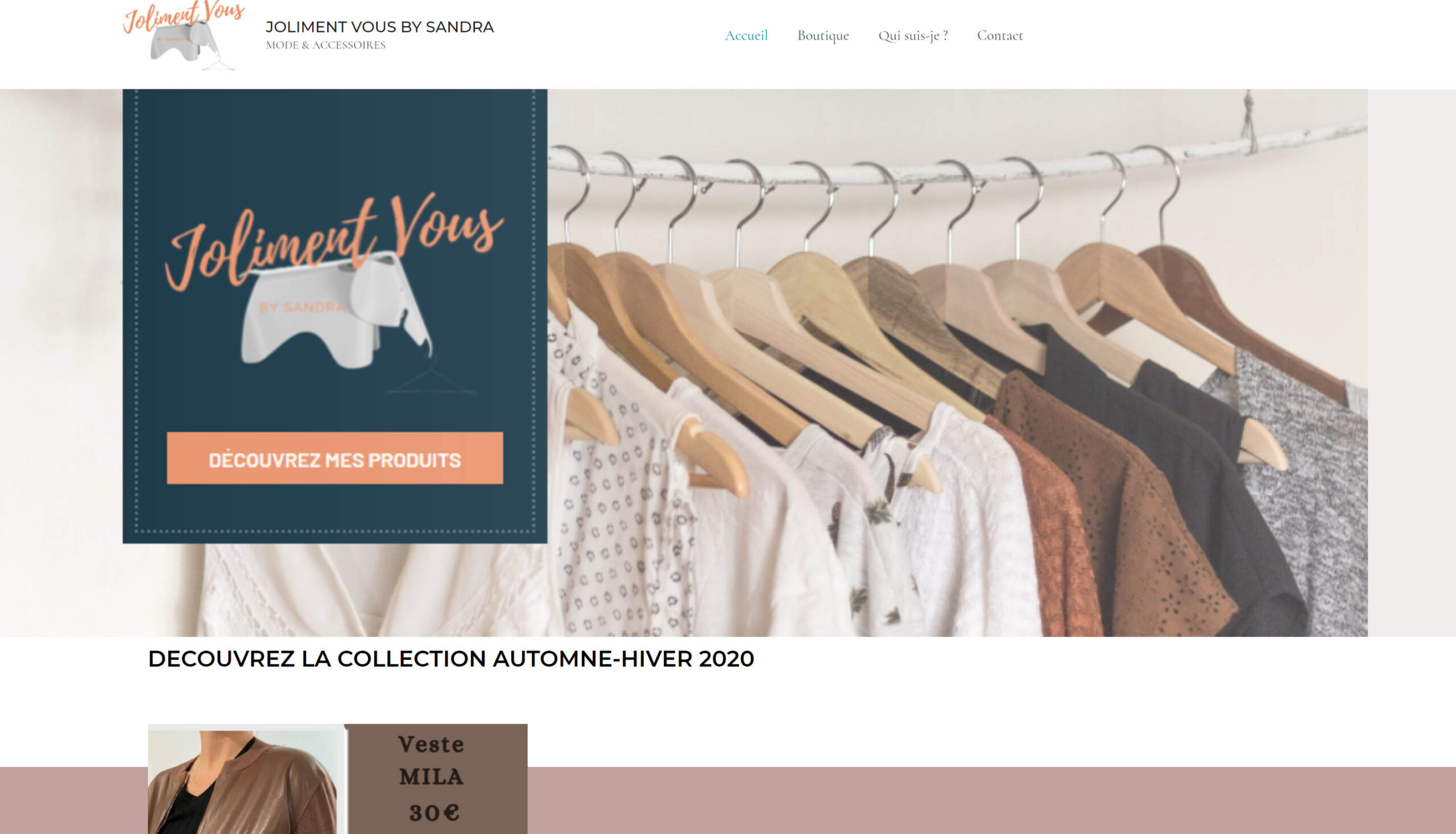 Site de vente de vêtements